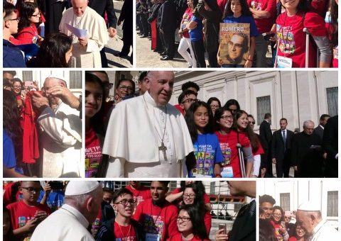 Pope With TPS Children